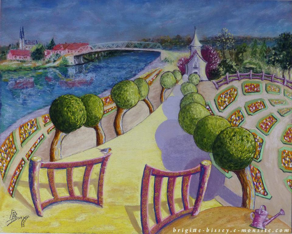 Pastel sec for Jardin extraordinaire